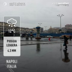 #instaweather #instaweatherpro #weather #wx #android #sky #outdoors #nature #world #love #followme #follow #beautiful #instagood #fun #cool #like #life #nice #happy #colorful #photooftheday #amazing #napoli #italia #day #winter #rain #afternoon #it
