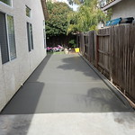 Side Yard Concrete With Curb In Vacaville