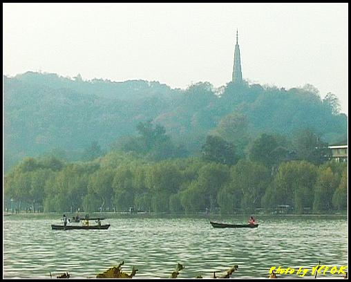 杭州 西湖 (其他景點) - 641 (湖濱路湖畔旁望向杭州地標 保淑塔)