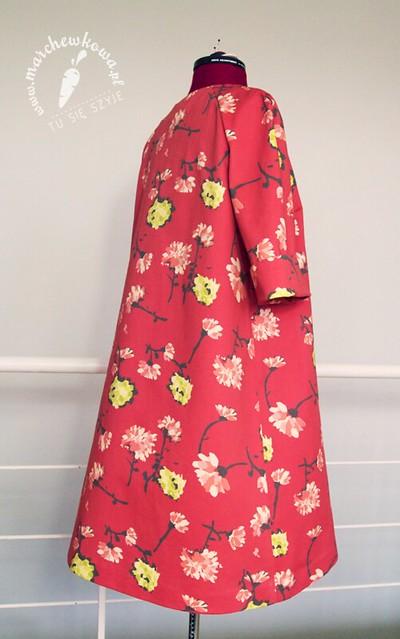 marchewkowa, blog, szafiarki, moda, retro, vintage, krawiectwo, szycie, sewing, maszyna z Lidla, SilverCrest, bawełna, gabardyna, kwiaty, Cottonbee, letni płaszcz, 50s, 60s, lata, szyciowy blog roku 2012