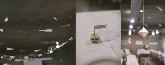 A gold + geometric wedding {picture me&u}