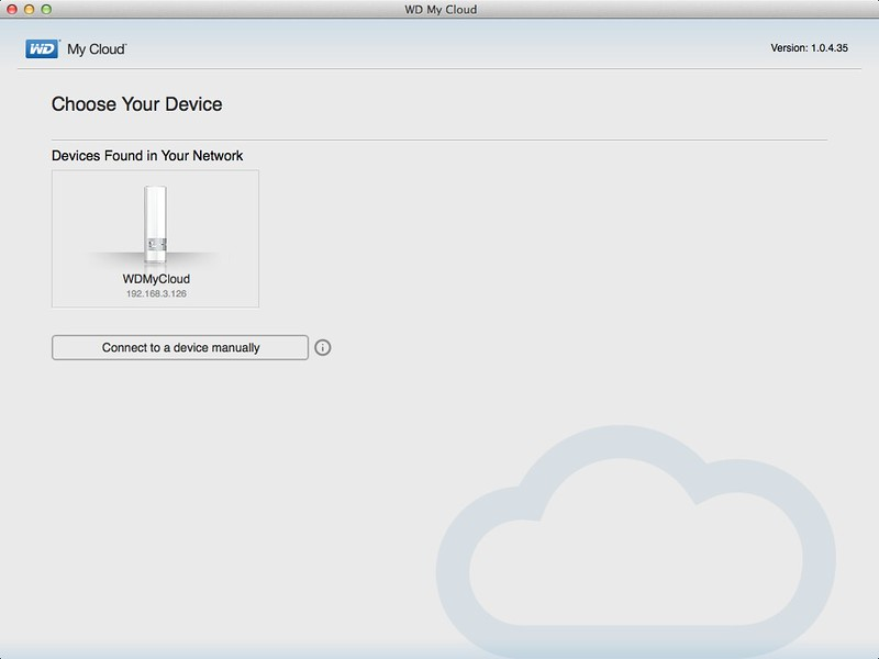 WD My Cloud Mac App - Device