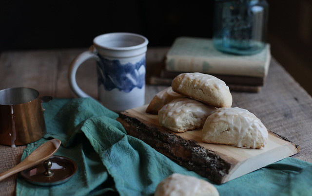 maple + ginger scones by Maggie Pate
