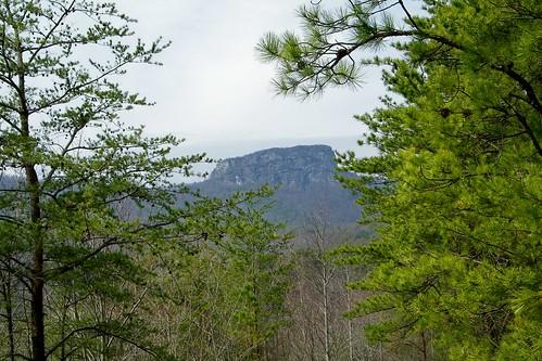blue irish mountain rock table back gravel pisgah