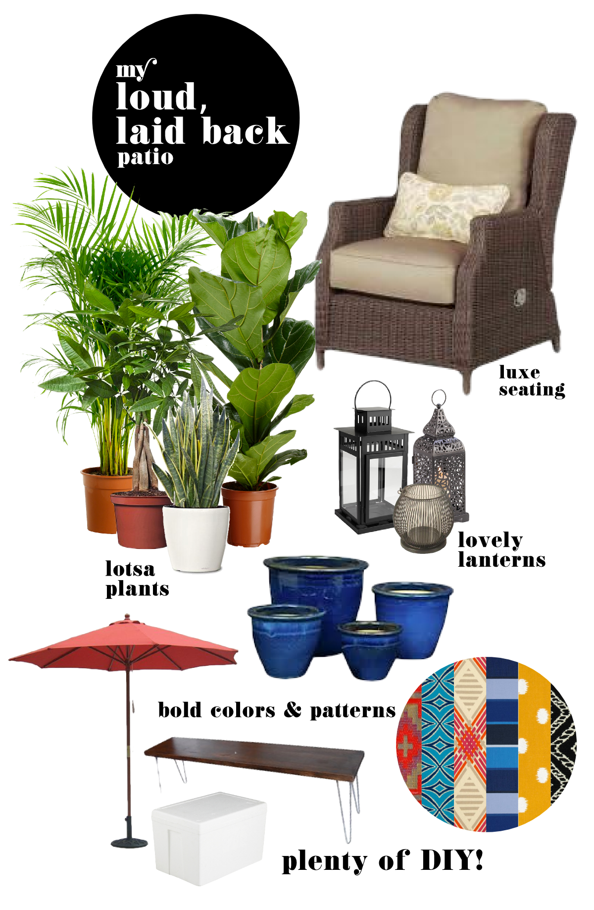 Home Depot Patio Challenge Mood Board