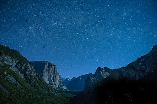 Yosemite night. USA, California