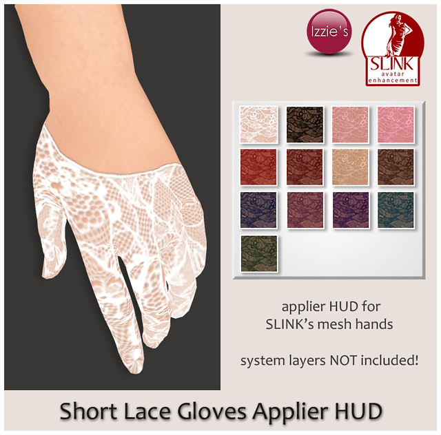 Short Lace Gloves Applier Hud