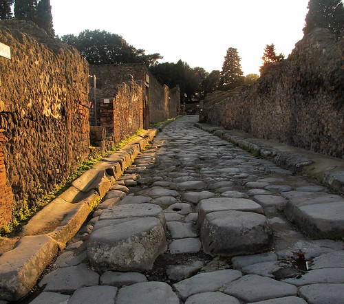Evening light in Pompeii