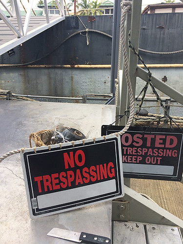 old and new no trespassing signs