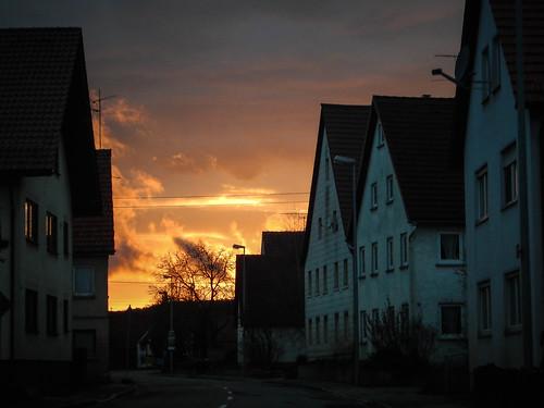 travel sunset rain germany europe tdy badenwurttemberg counryside dornstadt