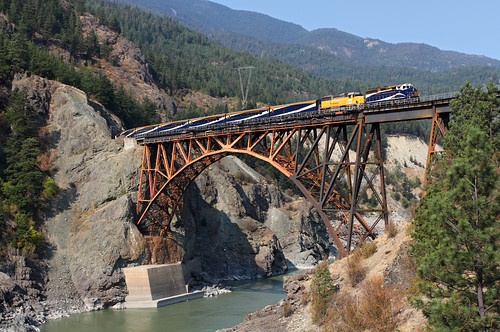 railroad bridge canada train bc britishcolumbia cisco frasercanyon passengertrain rmr tourtrain excursiontrain rockymountainrailtours ciscobridge