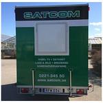 Helfolierat släp till Satcom.