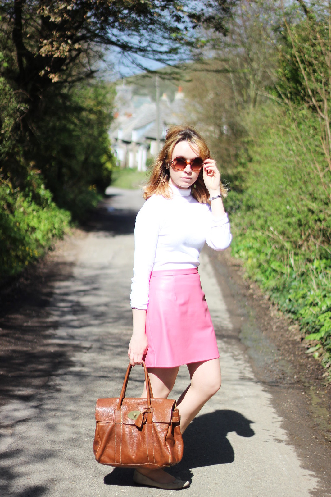 4whitepoloneck, retro, 60s, outfit, style, blonde, mod, pink, high street, mulberry, designer, spring, fashion, blogger