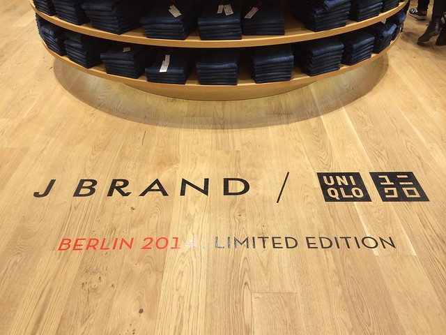 Berlin Uniqlo flagship store opening_Jbrand denim exclusive collaboration jeans