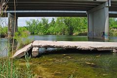 Remains of Concrete Slab Bridge over Coleto Creek, Raisin, Texas 1404121308