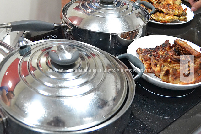 ROYAL PRESTIGE COOKWARES. Some of Royal Prestige's products that lets you cook Greaseless Crispy Fried Chicken, Greaseless Crispy Lechon Kawali, and Waterless Sinigang na Hipon in a matter of 40 minutes, combined.