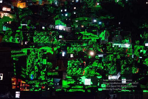 Video Mapping Philipp Geist_Ano da Alemanha no Brasil - Santa Marta 2014