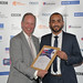 Edge Acting CEO David Harbourne with Mohamed Mayoub  Adult Learners' Week Awards 2015  National Award Winner - Young Adult Learner of the Year, Sponsored by the Edge Foundation
