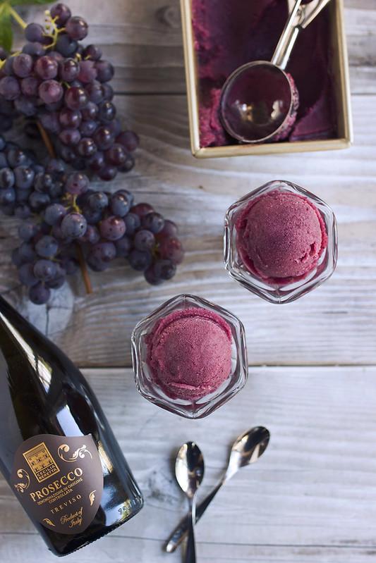 Fresh Grape and Prosecco Sorbet