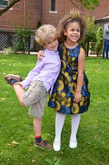 Everett And Rosemilia After Their Kindergarten Graduation