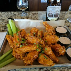 Brass Tap wings with Boom Boom sauce... mmm...