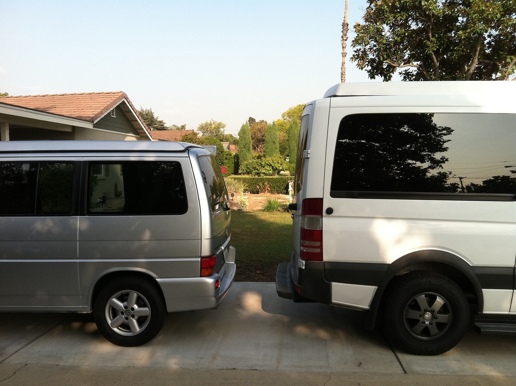 Couple Of Images To Show The Size Difference Sprinters Vs Eurovans Which Should Give An Idea Sprinter Metris Since I Cant Find Good