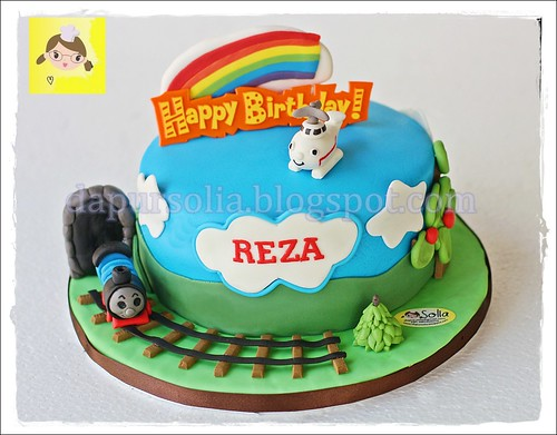 Train and Helicopter Cake for Reza