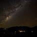 Milky Way over Whatamango Bay Marlborough Sounds New Zealand. by Phil Webby