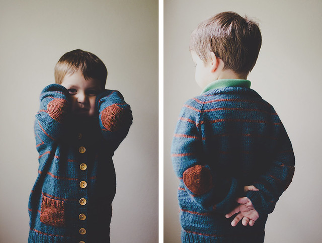 knitting: cardigan, front & back