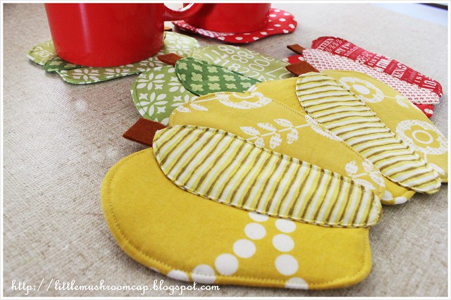 Bell Pepper Coaster_Patchwork Please_Ayumi Takahashi