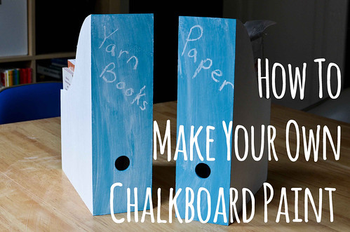 How To: Custom Color Chalkboard Paint Magazine Files