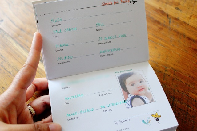 Simply for Flying flight logbook-personal info page