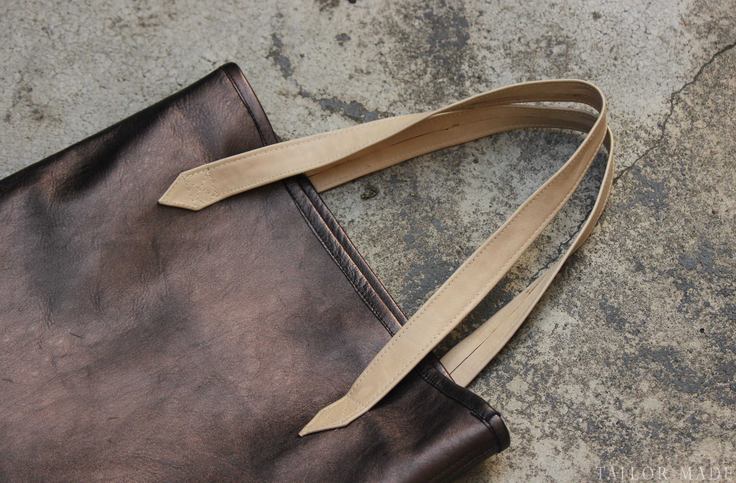 DIY Metallic Leather Tote