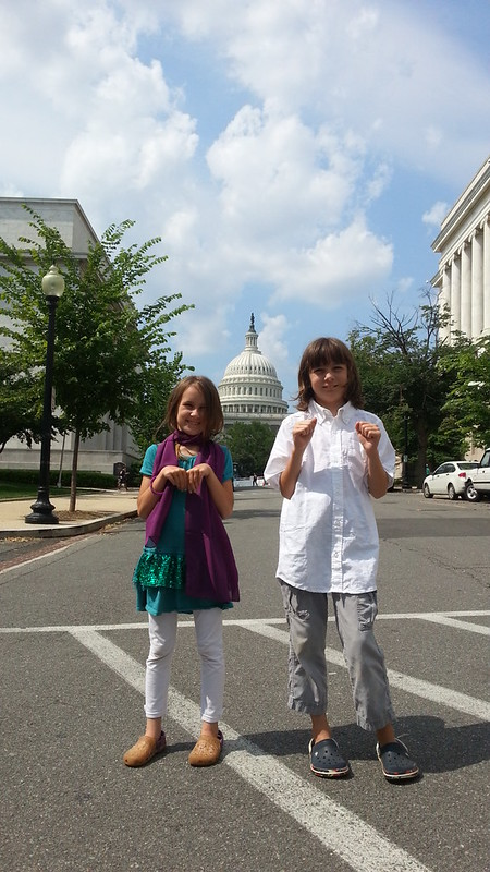 Jack and Hala at the Capitol rocking it for Lupus