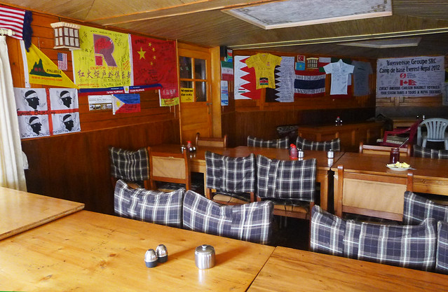 Everest Base Camp trek - a typical teahouse dining hall