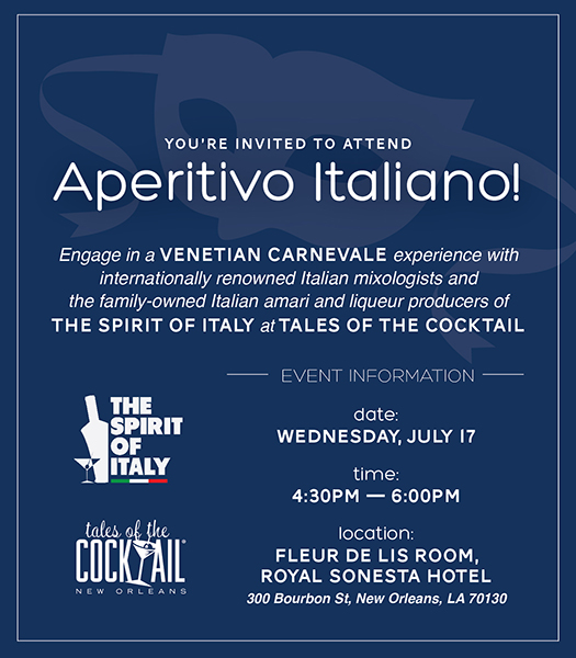 Tales of the Cocktail Event Spotlight: Aperitivo Italiano