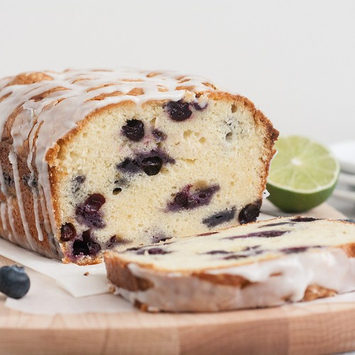 Blueberry-Lime Cream Cheese Pound Cake | Tracey's Culinary Adventures