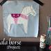 Dala horse project by StitchedInColor