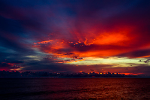 sunset red sky clouds canon landscape day gulf cloudy scenic 7d