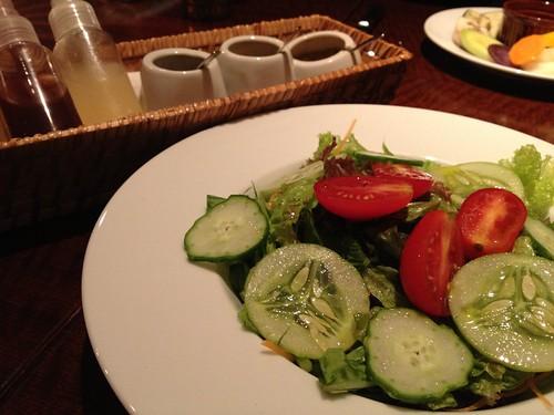 前菜から有機野菜のサラダ@Desse