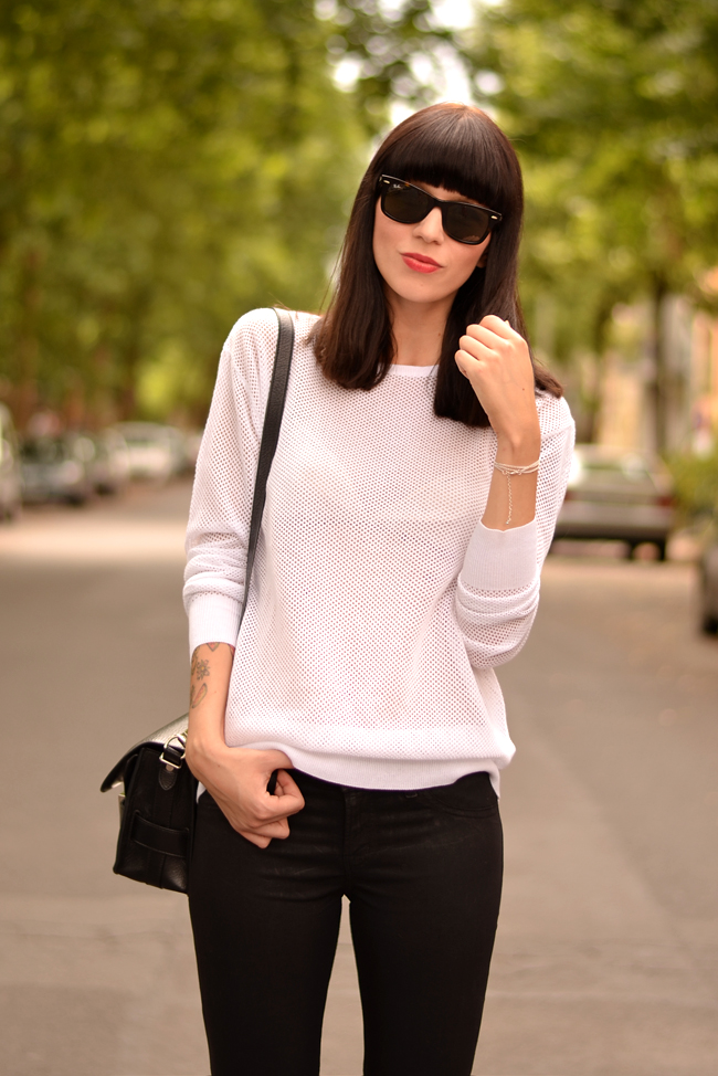 Black White Outfit J Brand Sojeans Sporty Look 7