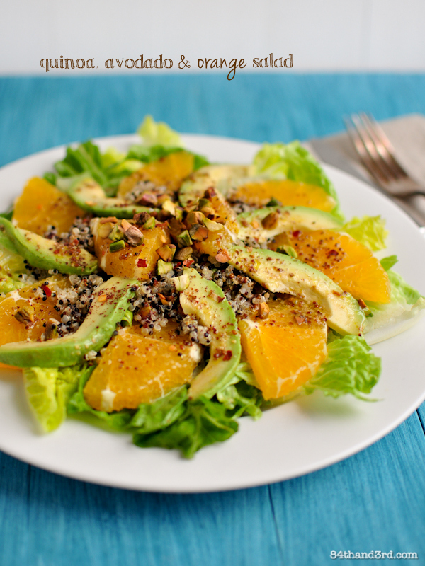 Moroccan Quinoa, Avocado & Orange Salad