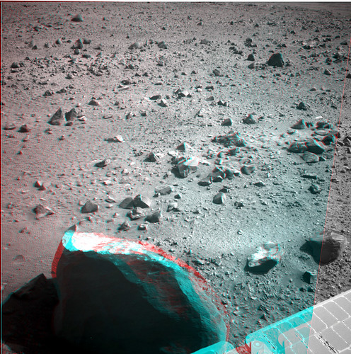 Opportunity sol 3400 NavCam anaglyph