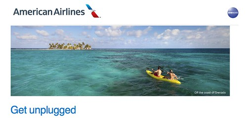 screenshot American Airlines Get Unplugged Sweepstakes
