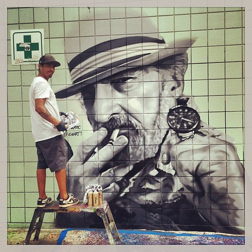 Jack Herer Mural by TAZROC in Venice Beach