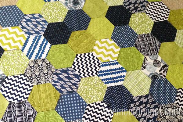 hexagon quilt 9