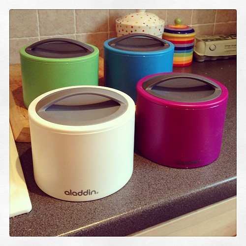 Bought these bento pots to try & give the girl hot school lunches & gym teas at less than the current £60 a week cost.
