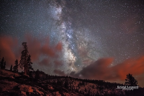 Rim Fire glow and Milky Way
