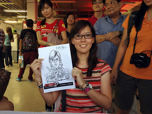caricature live sketching for NTUC U Grand Prix Experience 2013 - 25