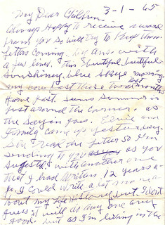 Elsie Eddlemon Letter 1 Mar 1965 - 1